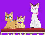 Cat Family by CrescentDream15
