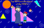 Top 10 Worst Cartoons of the 1990's Title Card