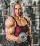 Fbb destroying her biceps veins