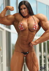 Fbb Angela Salvango flexing from her heart by tufenk69