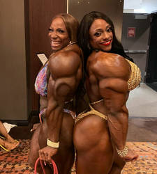 Mother is ripped where daughter is buffed