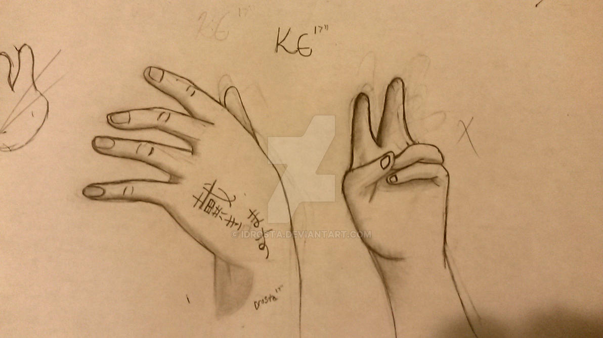 practicing hands (peace signs are the worst) by iDrosta