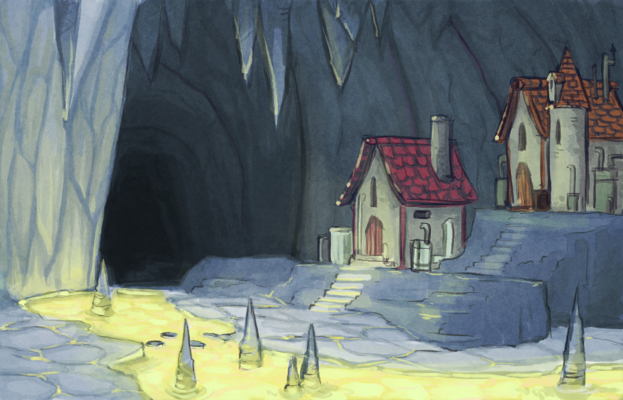 Toxic Glowy Cave by Bored-dood