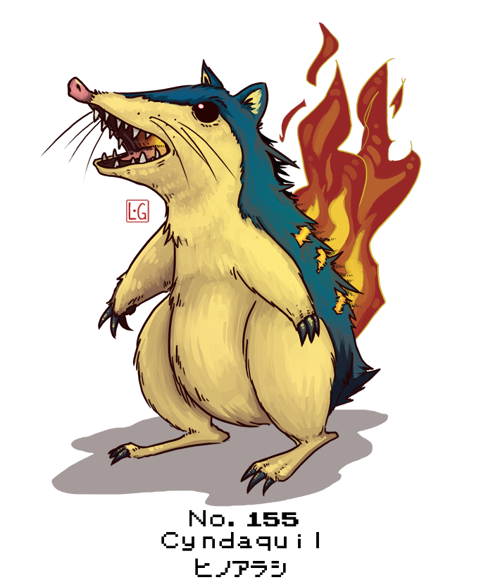 No. 155 Cyndaquil by Bored-dood