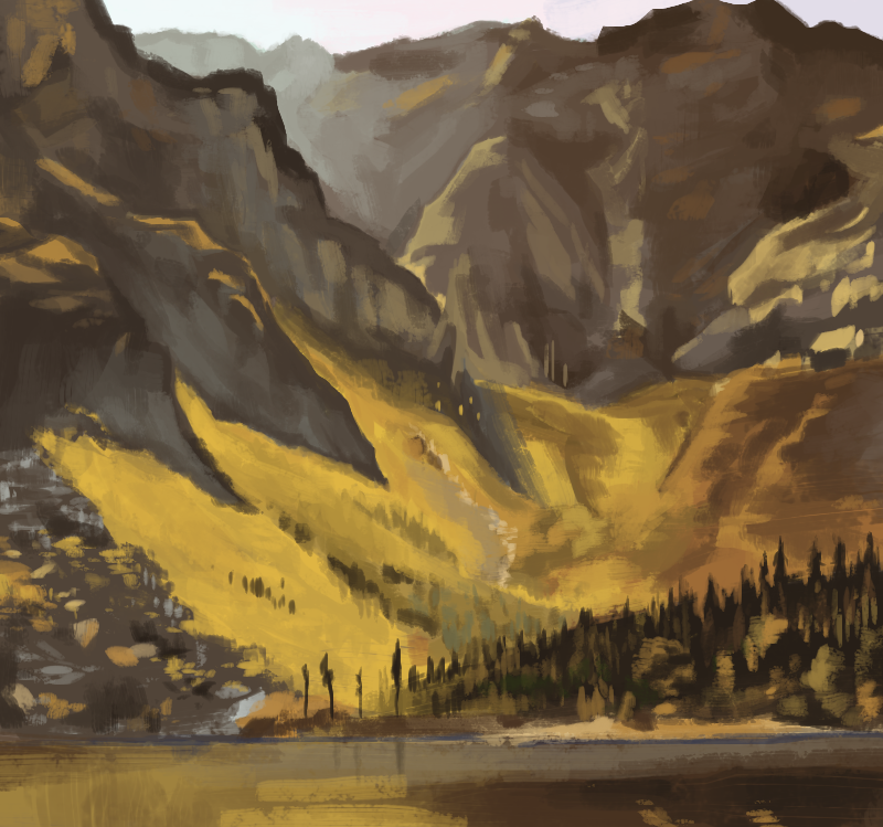 Color study - Great Basin, Mount Katahdin by Bored-dood