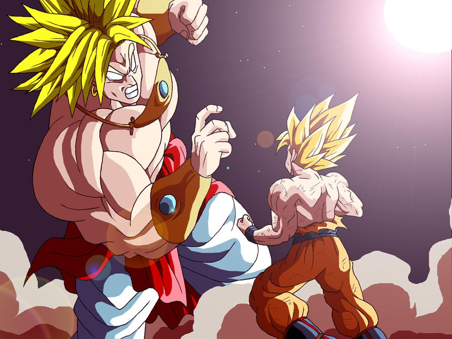 pictures of goku and broly as babies