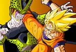 Cell and Goku