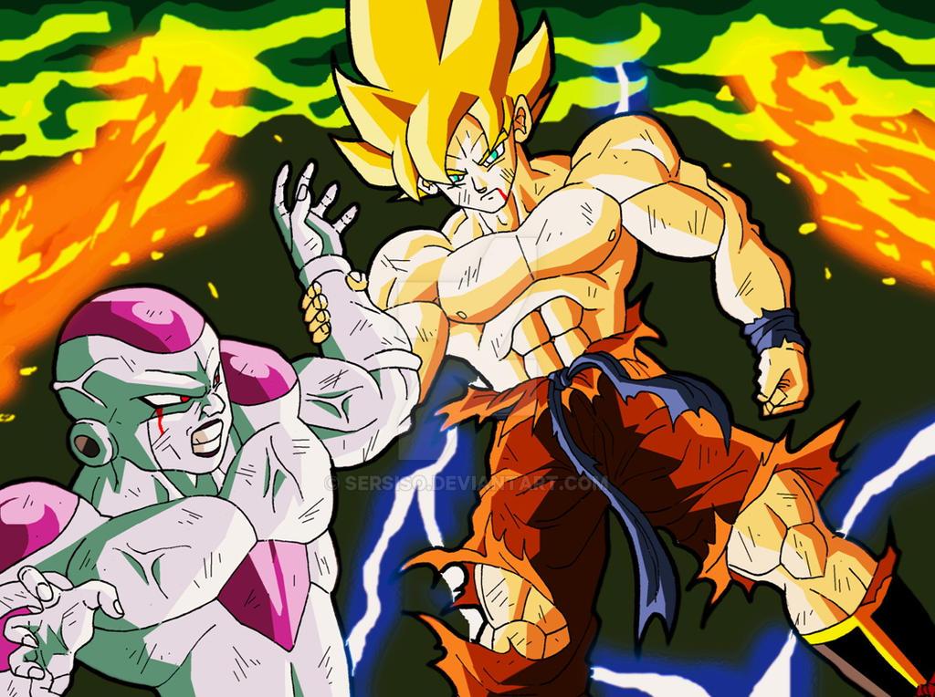 Freezer And Goku by Sersiso