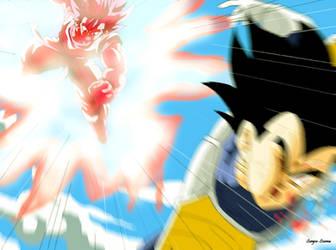 Goku and Vegeta Dragon Ball Z by Sersiso