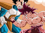 Fight between Goku and Vegeta