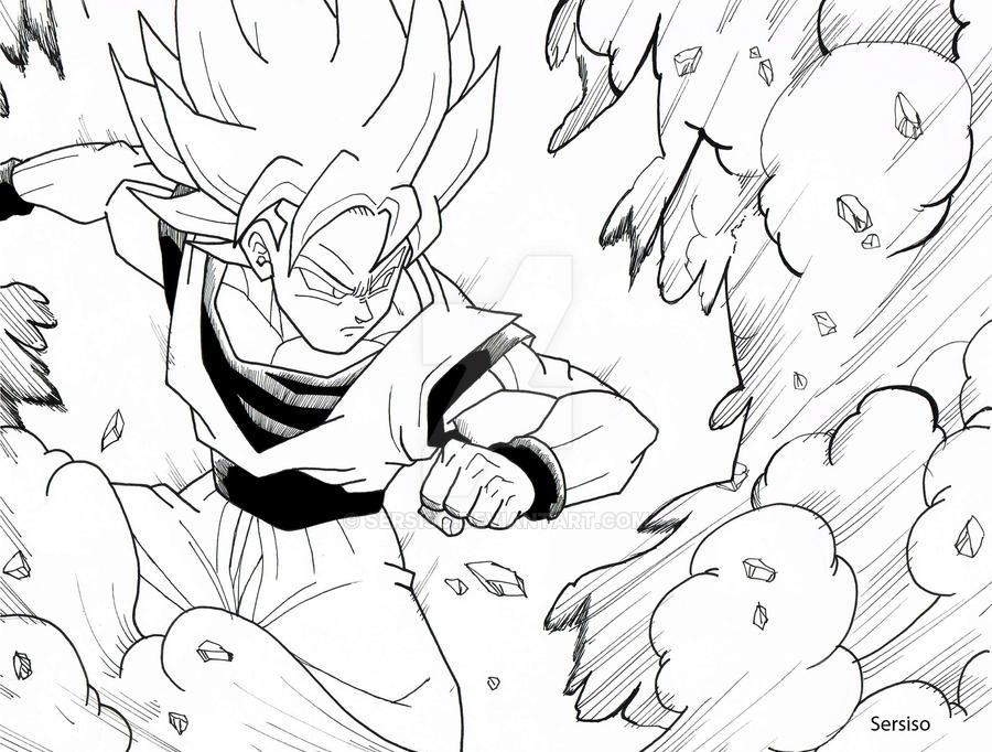 Goku comic traditional by Sersiso