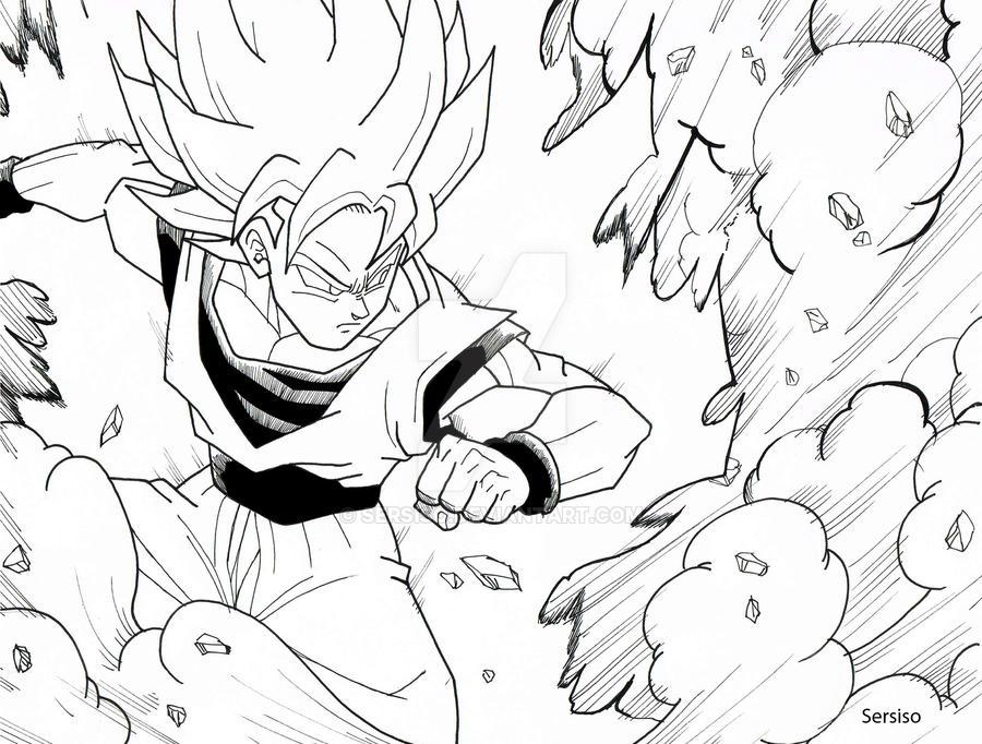 Goku comic traditional by Sersiso