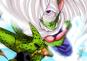 Piccolo and Cell Dragon Ball Z by Sersiso
