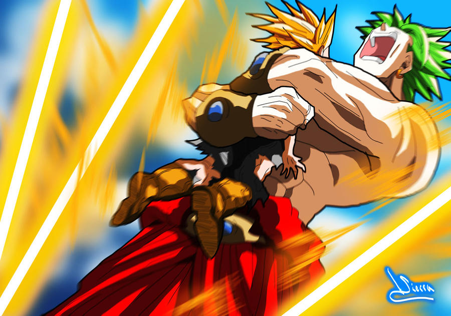 Broly and Trunks 4 by Sersiso on DeviantArt