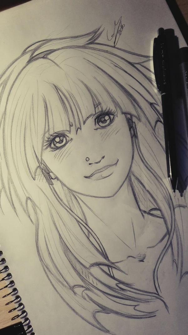 Sketch Girl by Sersiso