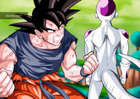 Goku and Freezer in Namek by Sersiso