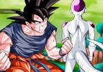 Goku and Freezer in Namek