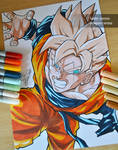 Gohan of the future of Trunks (made with Copics)