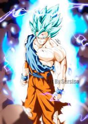 Goku in Super Saiyan Blue 2 by Sersiso