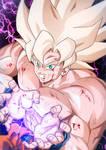 Goku Super Saiyan exhausted