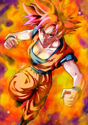 Goku as if he were a woman