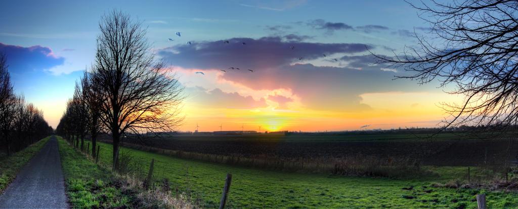 Sunset Noordhoek Noord-Brabant Nederland by carlahoon