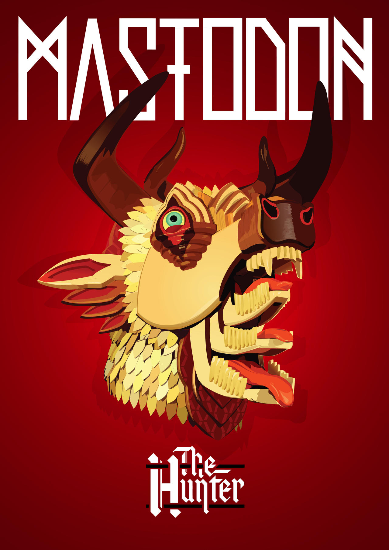 Mastodon - The Hunter Poster A3 by vortex-br on DeviantArt