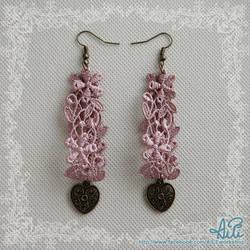 Purple lace earrings