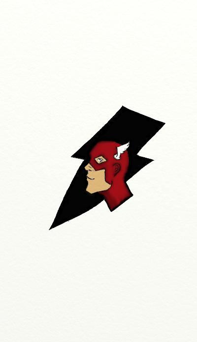 Barry Allen's Flash by starryeyedabs