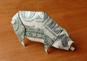 Dollar Bill Pig by craigfoldsfives