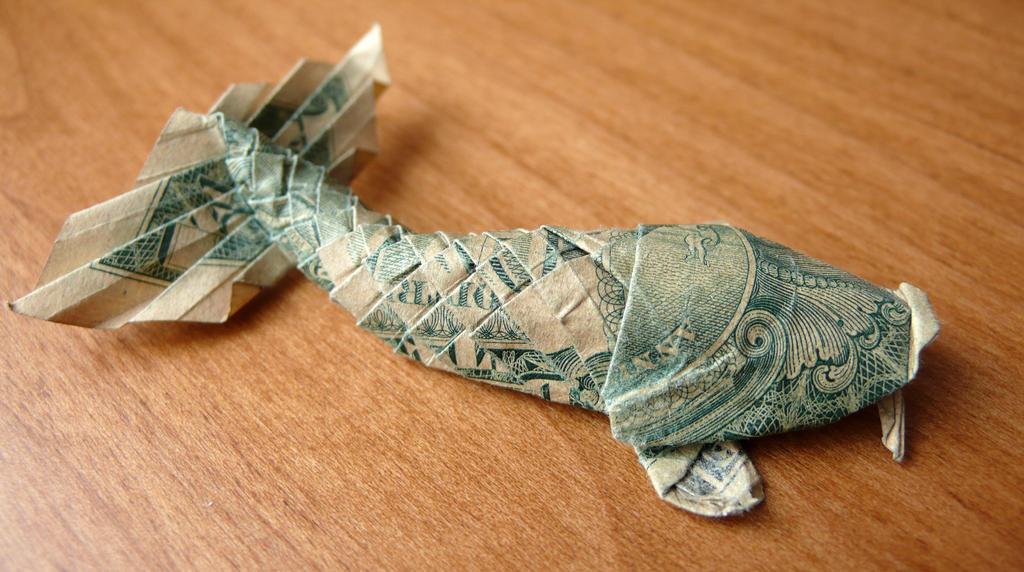 Dollar bill koi by craigfoldsfives on deviantart for Dollar bill koi