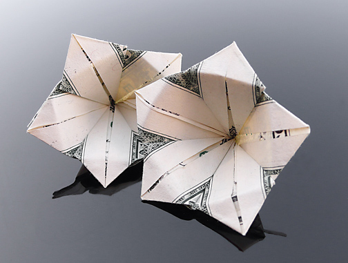 Dollar Bill Flowers by craigfoldsfives