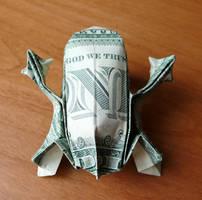 Dollar Bill Origami Tree Frog by craigfoldsfives