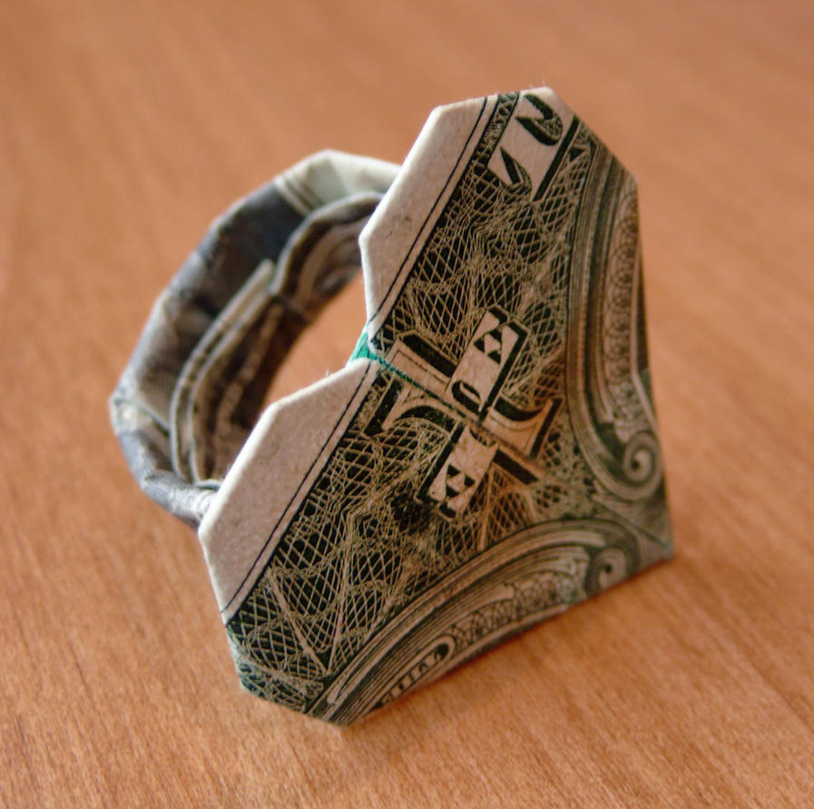 Dollar Origami Ring Heart