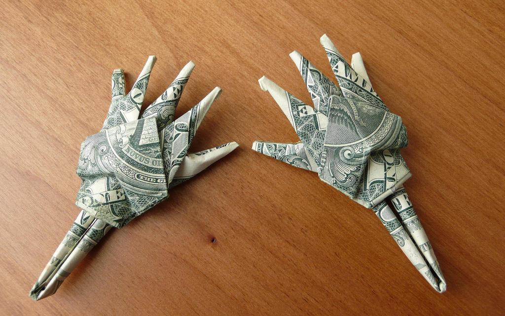 Origami One Dollar Ring