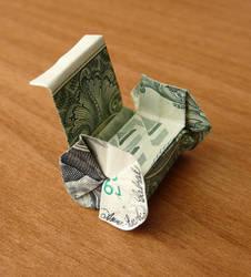 Dollar Bill Origami Wheelchair