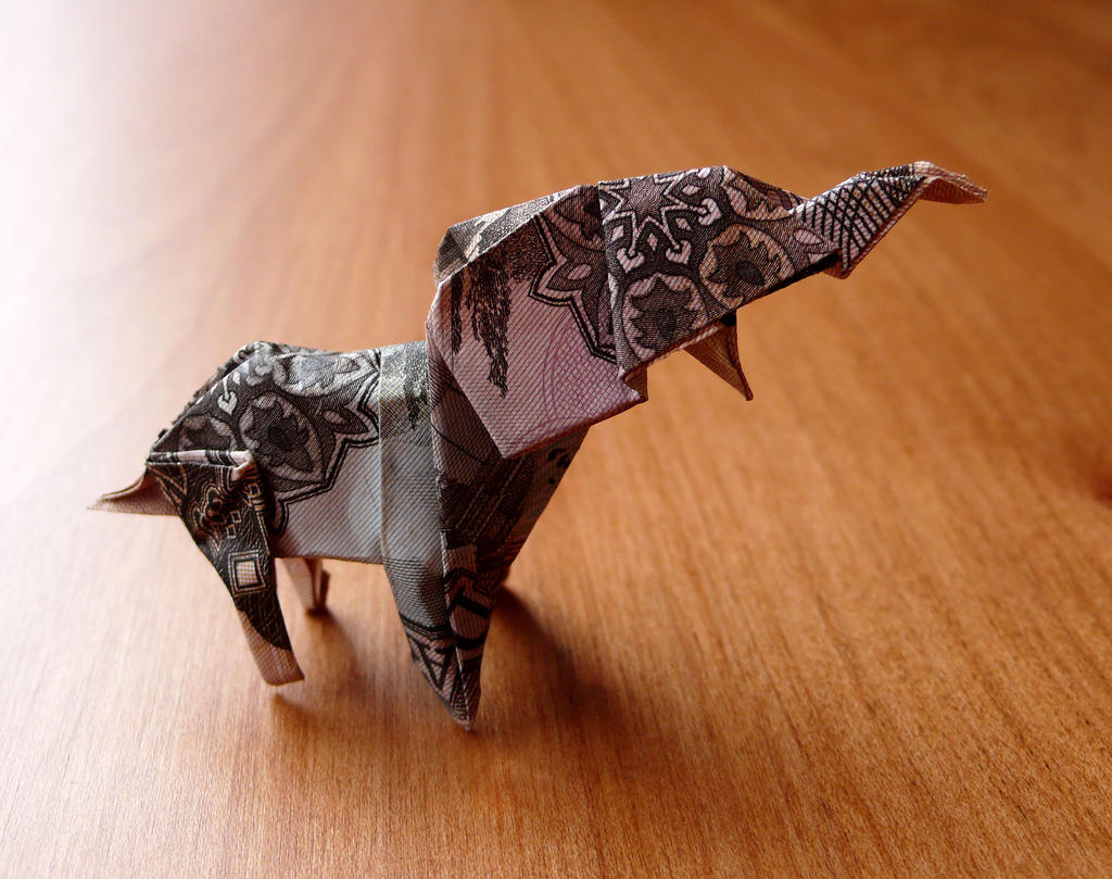 Origami Elephant Made with an Afghani Note. by ... - photo#21