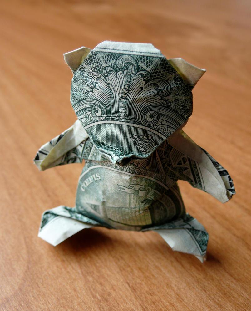 dollar origami teddybear by craigfoldsfives on deviantart