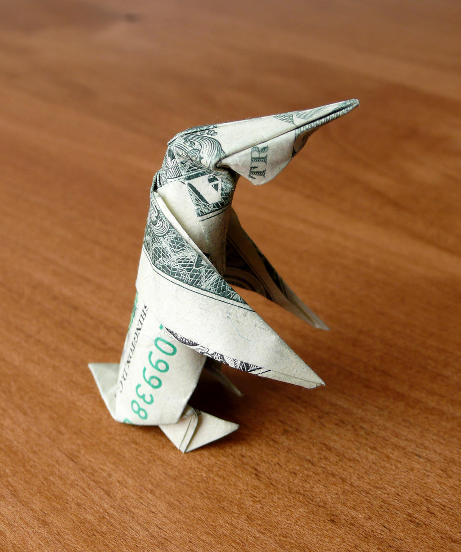 Dollar Origami Penguin. New design. by craigfoldsfives on ... - photo#36
