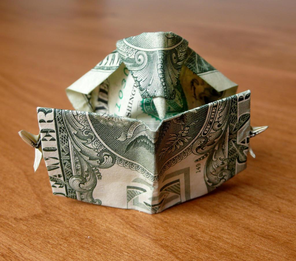 Оригами для подарка денег