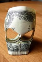 Two Dollar Bill Origami Skull v3 by craigfoldsfives