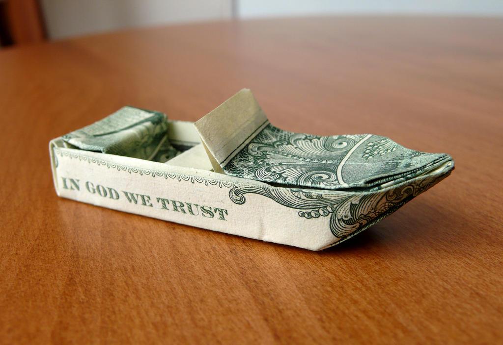 Dollar Origami Ski Boat V3 By Craigfoldsfives