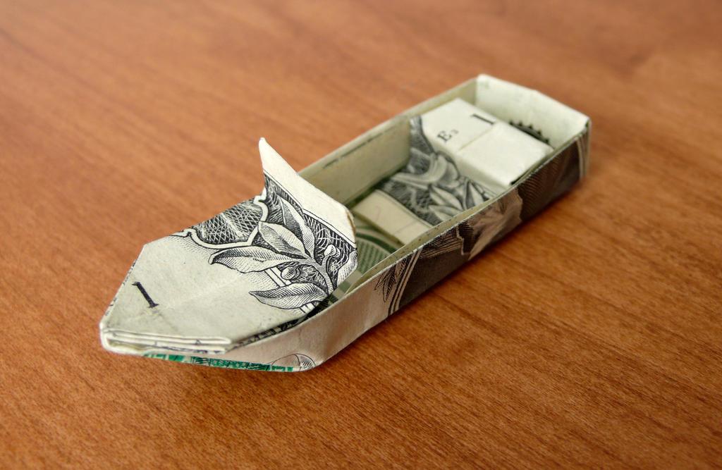 Dollar Origami Boat V4 By Craigfoldsfives