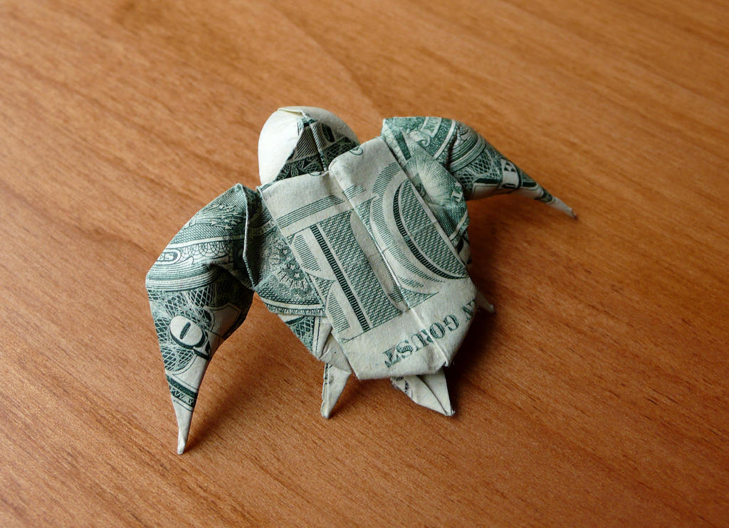 origami dollar flower instructions