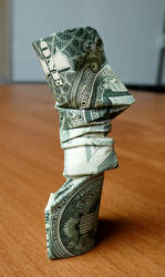 Dollar Origami Easter Island Statue v1
