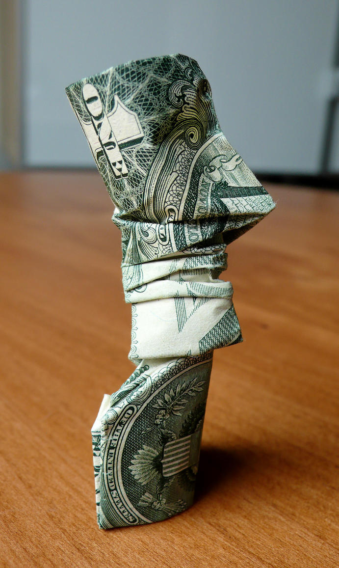 dollar origami easter island statue v1 by craigfoldsfives on deviantart. Black Bedroom Furniture Sets. Home Design Ideas