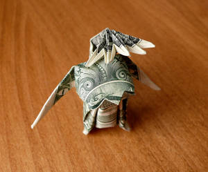 Dollar Origami Pet the dog v1