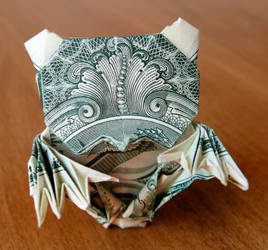 Dollar Origami Zombie Teddy Bear v2