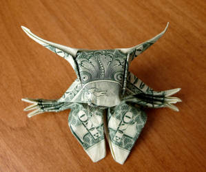 Dollar Origami Minotaur v1 by craigfoldsfives