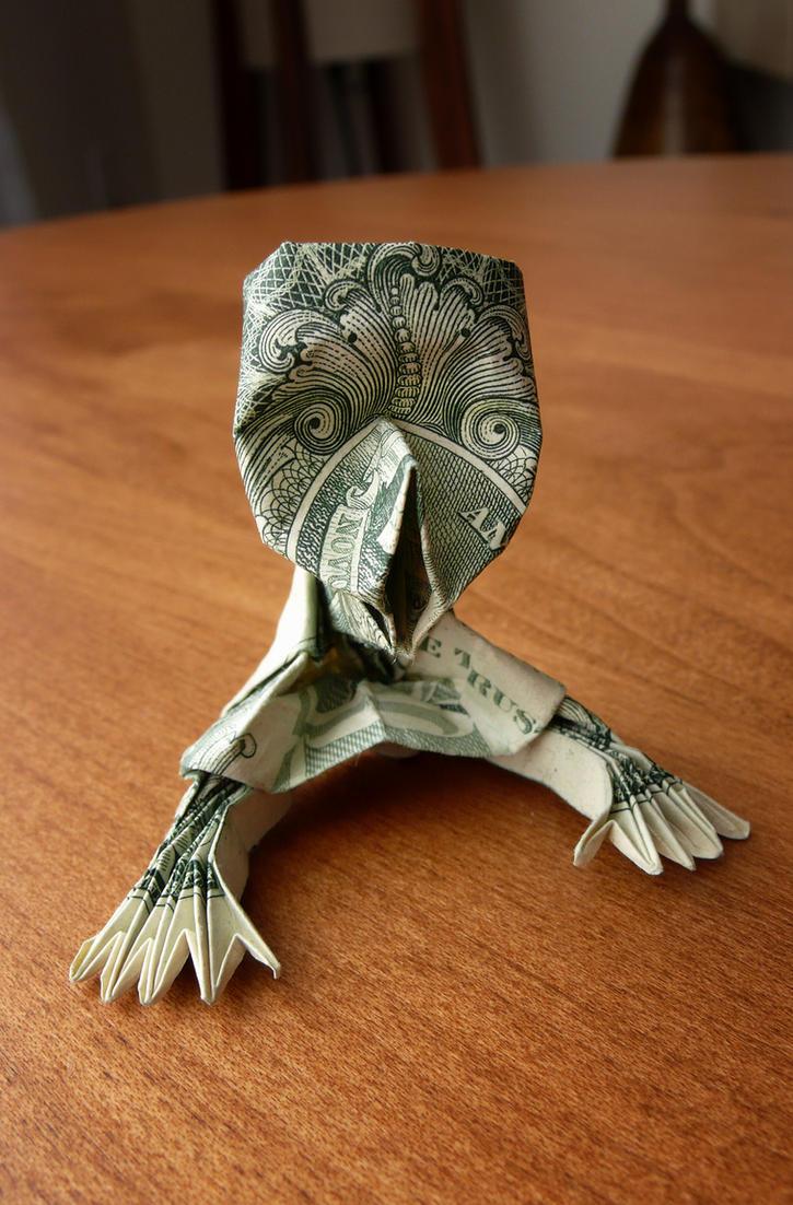 Dollar Origami zombie Crawl v1 by craigfoldsfives